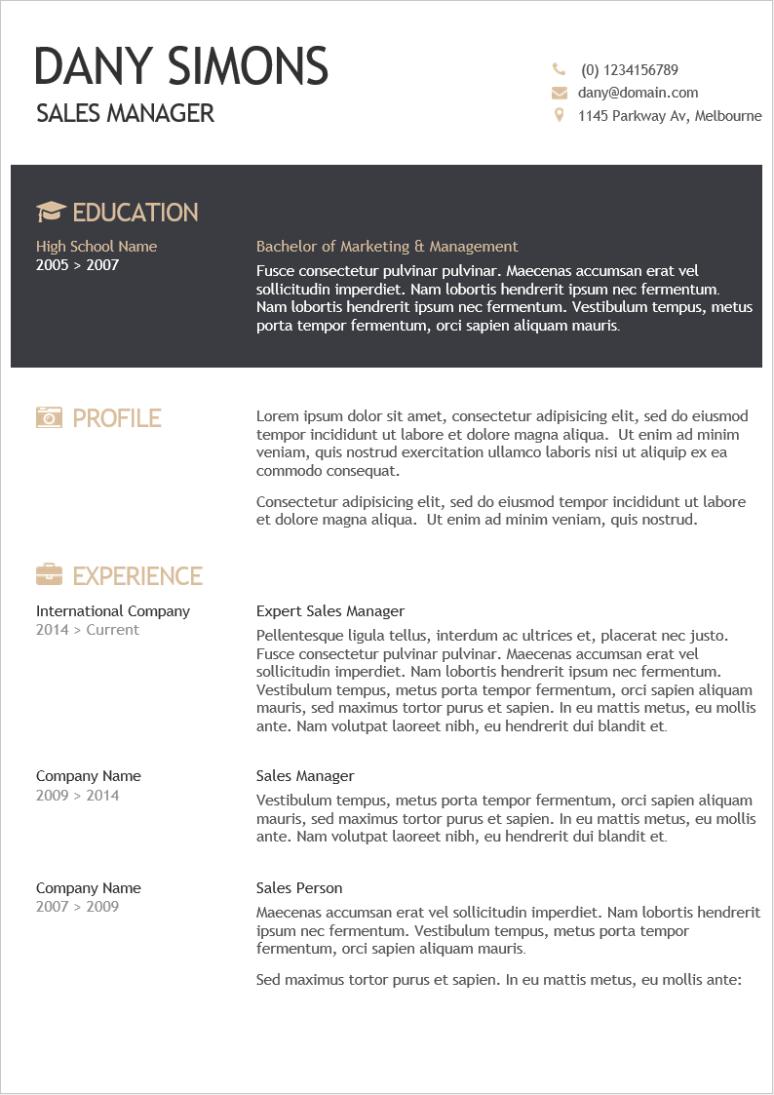 2021 最新精美英文履歷表範本下載