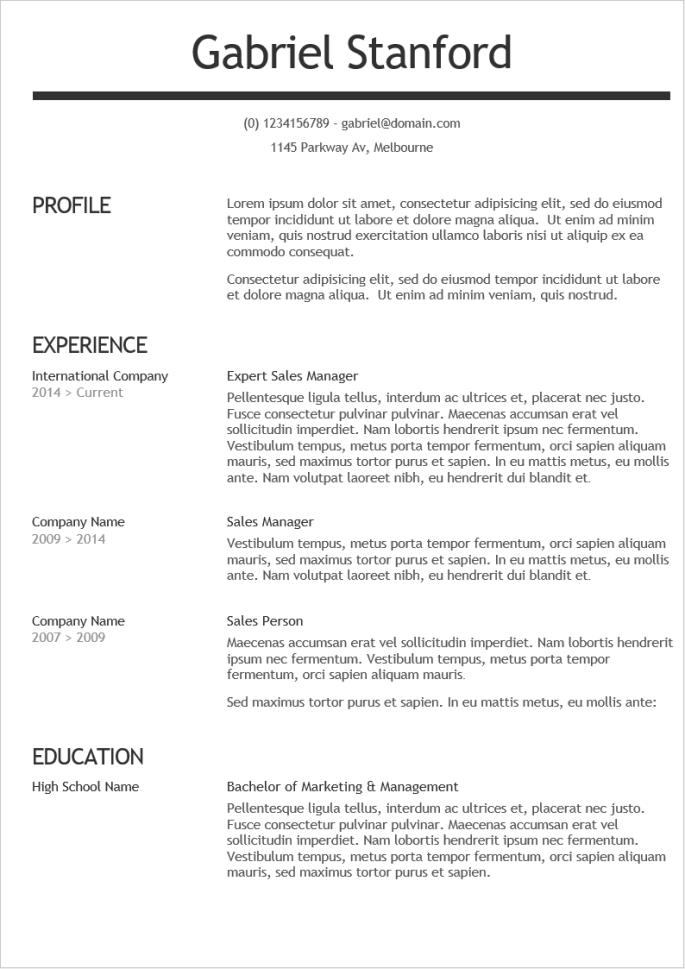 2019 最新精美英文履歷表範本下載