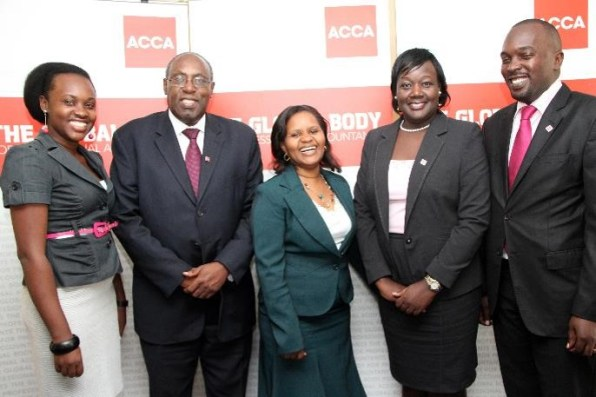 The ACCA Uganda team poses for a photo after a press conference to launch the Eastern Africa Members Convention at Golf Course Hotel in Kampala, Uganda