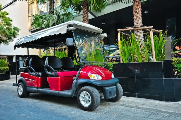 Golf cart to drive you to the main street, Sukhumvit