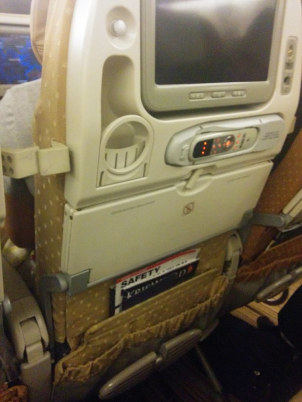 Newer type seat on long-haul flight, but not brand new