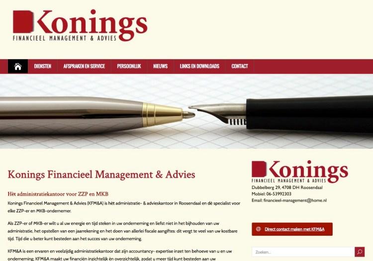 DIENSTENWEBSITE. Deze website is gemaakt voor een boekhouder. Hiermee kun je jouw financiële diensten presenteren voor zowel nieuwe als bestaande klanten. Actueel nieuws via een RSS feed.