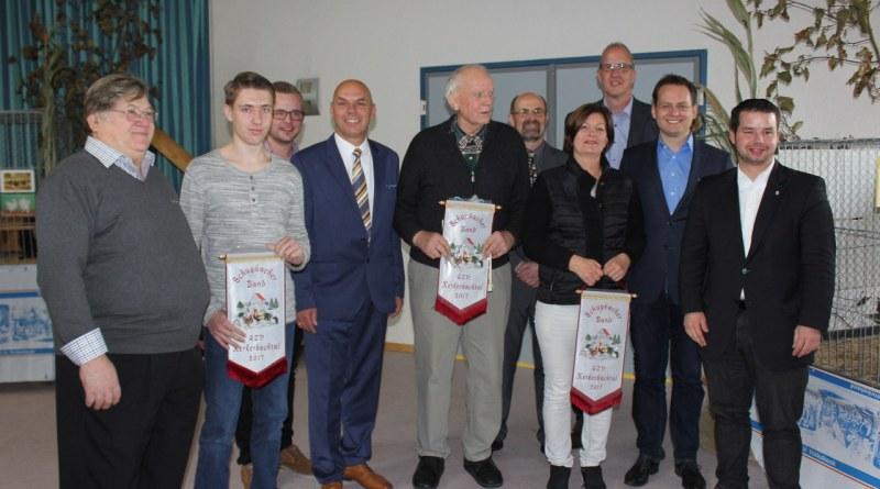 Erfolgreiche Züchter bei der Lokalschau des GZV Kerkerbachtal