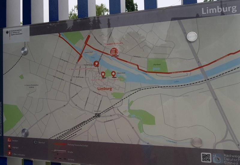An der Radstation gibt es Informationen zum Radweg Deutsche Einheit und zu Limburg.