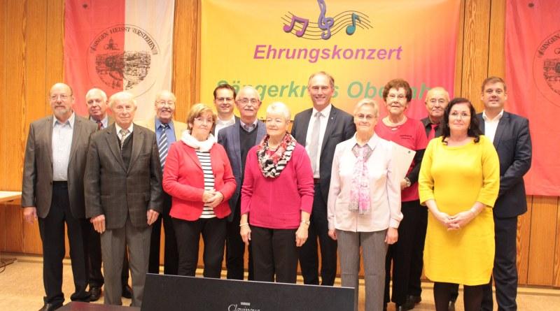 Ehrungen Sängerkreis Oberlahn