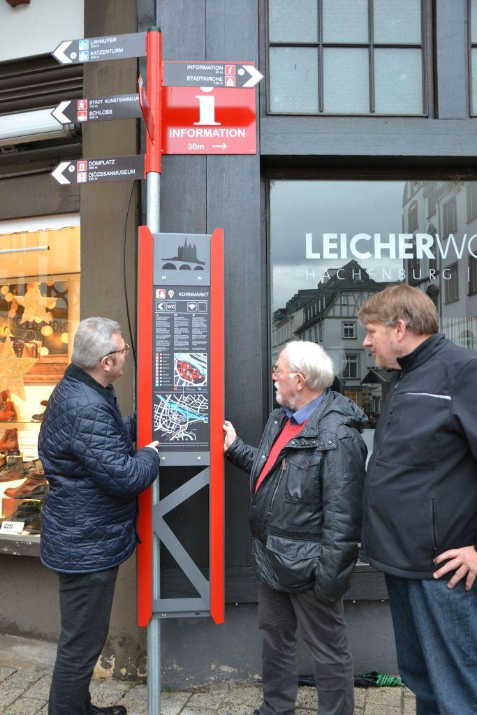 Leitsystem Altstadt Limburg Wegweiser