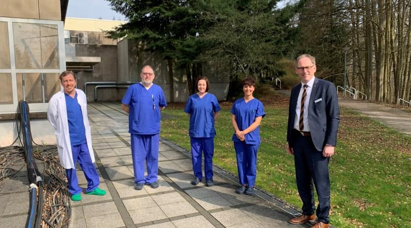 Corona Besuch Krankenhäuser Landkreis