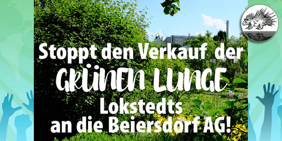 HLKV gegen Verkauf Grüne Lunge Lokstedt – Petition