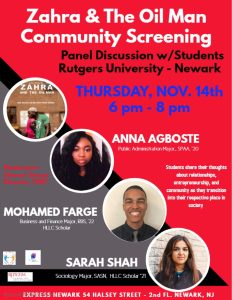 Zahra & The Oil Man Community Screening @ Express Newark 2nd Fl | Newark | New Jersey | United States