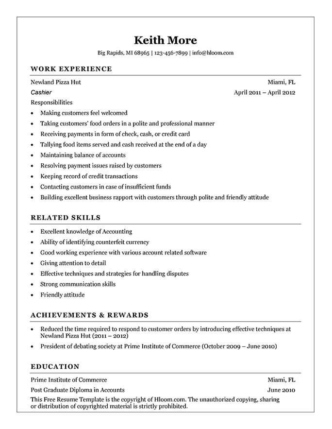 Customer Service Resume Example - The Balance
