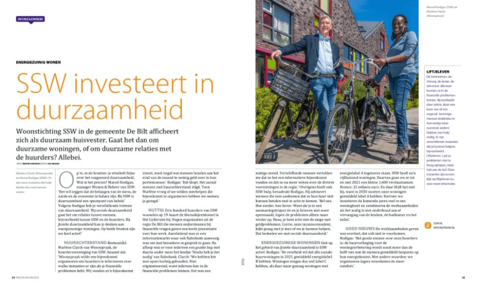 Rabobank Rijn en Heuvelrug Woonstichting SSW en Bewonersvereniging De Bilt Woonspraak