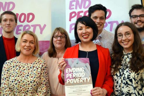 Monica Lennon at the Ending Period Poverty consultation launch