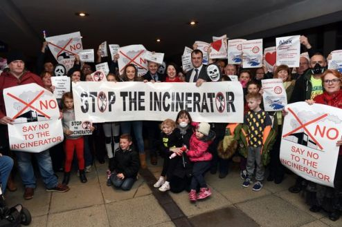 Protest against the proposed Whitehill incinerator, November 2015