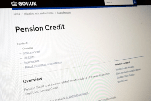 Pension Credit website