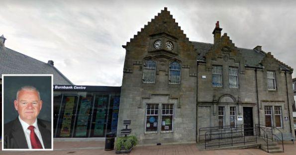 Councillor Davie McLachlan and Burnbank Library