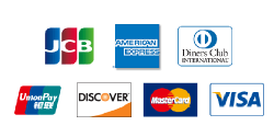 JCB・AMEX・DinersClub・銀聯・DISCOVER・MasterCard・VISA