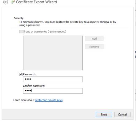 Password Certificado Cliente