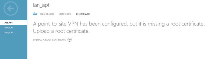Subiendo el certificado Root