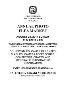 PPH Annual Flea Market flyer