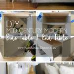 Diy Mid Century Modern Side Table Home Made By Carmona