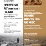 Međunarodni znanstveni skup Prvi svjetski rat (1914.-1918.) i glazba