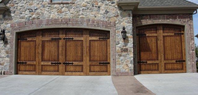 Carriage House Vintage Wood Garage Doors