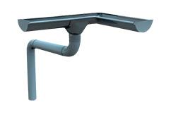 Dakgoten / regengoten van kunststof (PVC) en staal