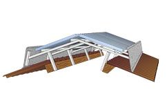 Lichtstraten voor hallen en licht- en ventilatiennokken voor stallen