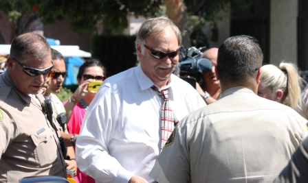 Attorney Steve Seiden after addressing members of the media in Cerritos.