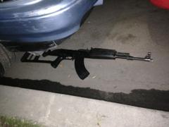 AK-47 recovered at crime scene on Tuesday night in Compton.
