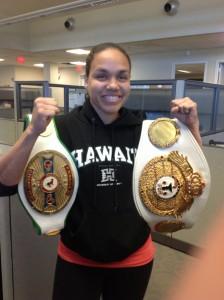 Boxing Champ Gets Her Stolen Belts BACK.