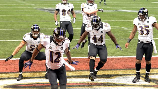 Baltimore Ravens capture Super Bowl win over 49ers on Sunday.