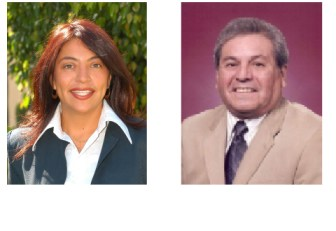 Central Basin Water District Board Directors Leticia Vasquez and James Roybal.