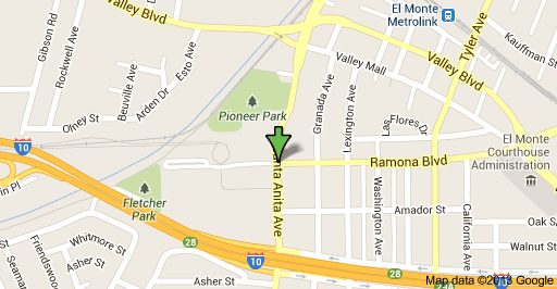 Map of the area were the the body of a male adult Hispanic was found on Saturday near Pioneer Park.