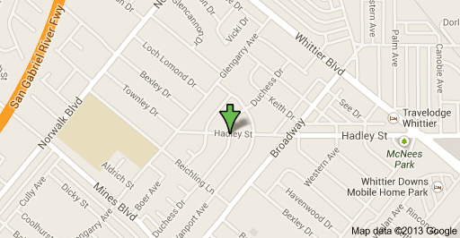 Location of officer involved shooting in West Whittier on Friday morning on Duchess Drive.