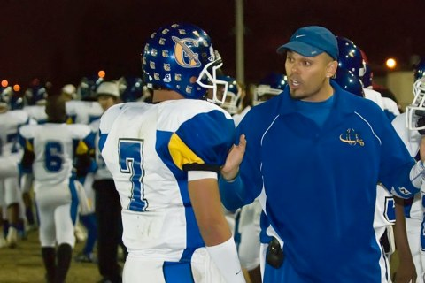 on Nielsen coaches nephew Corey during a Gahr High School road game over five years ago. Corey and Casey Nielsen would graduate from Gahr setting several state passing records.