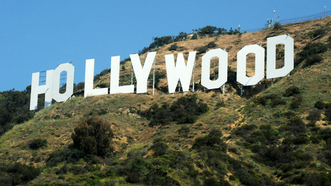 View of the Hollywood sign after Califor