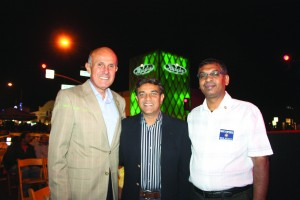 Los Angeles County Sheriff Lee Baca was all smiles at a recent celebration in Artesia with newly elected Councilman Ali S. Taj and LA County Sheriff's Advisory Committee Member Jagan Yelisetti. Randy Economy Photo