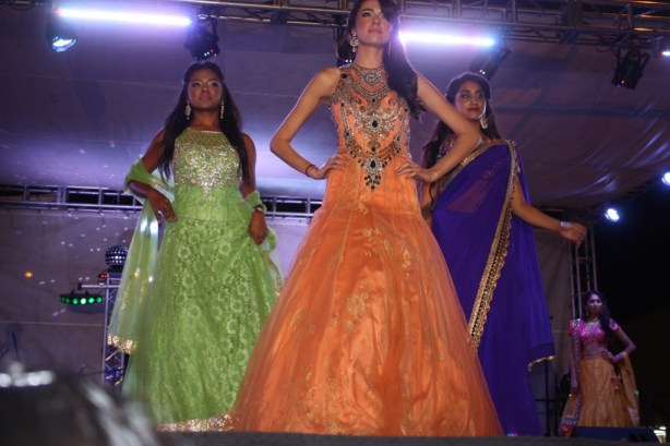 Models show off the latest fashions during Diwali Festival in Artesia this past week. Randy Economy Photo
