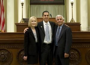 Joseph Gatto, left, with his son, Assemblyman Mike Gatto in Sacramento.