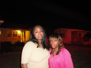 Ardella Haynes Earl, owner of the destroyed home and her daughter,  Tammye McDuff Klein Photos