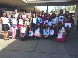 Gahr High School students take their message directly to the entire campus and community.