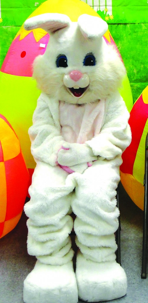 Peter Cottontail was seen in Downey this past week in preparation for his big day this Sunday.  Tammye Mc Duff photo
