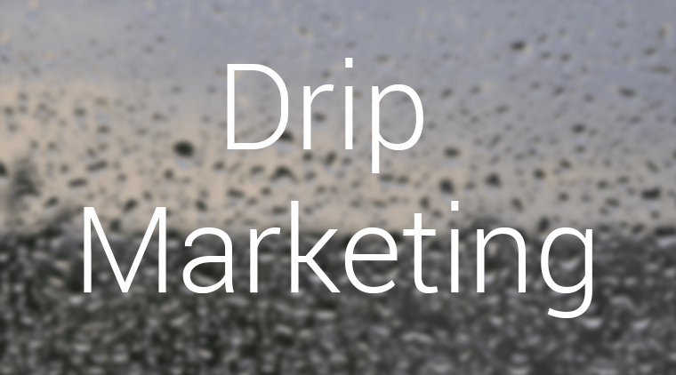 A New Marketing Strategy: Drip Marketing