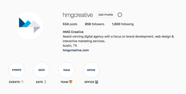 HMG Creative Instagram Profile