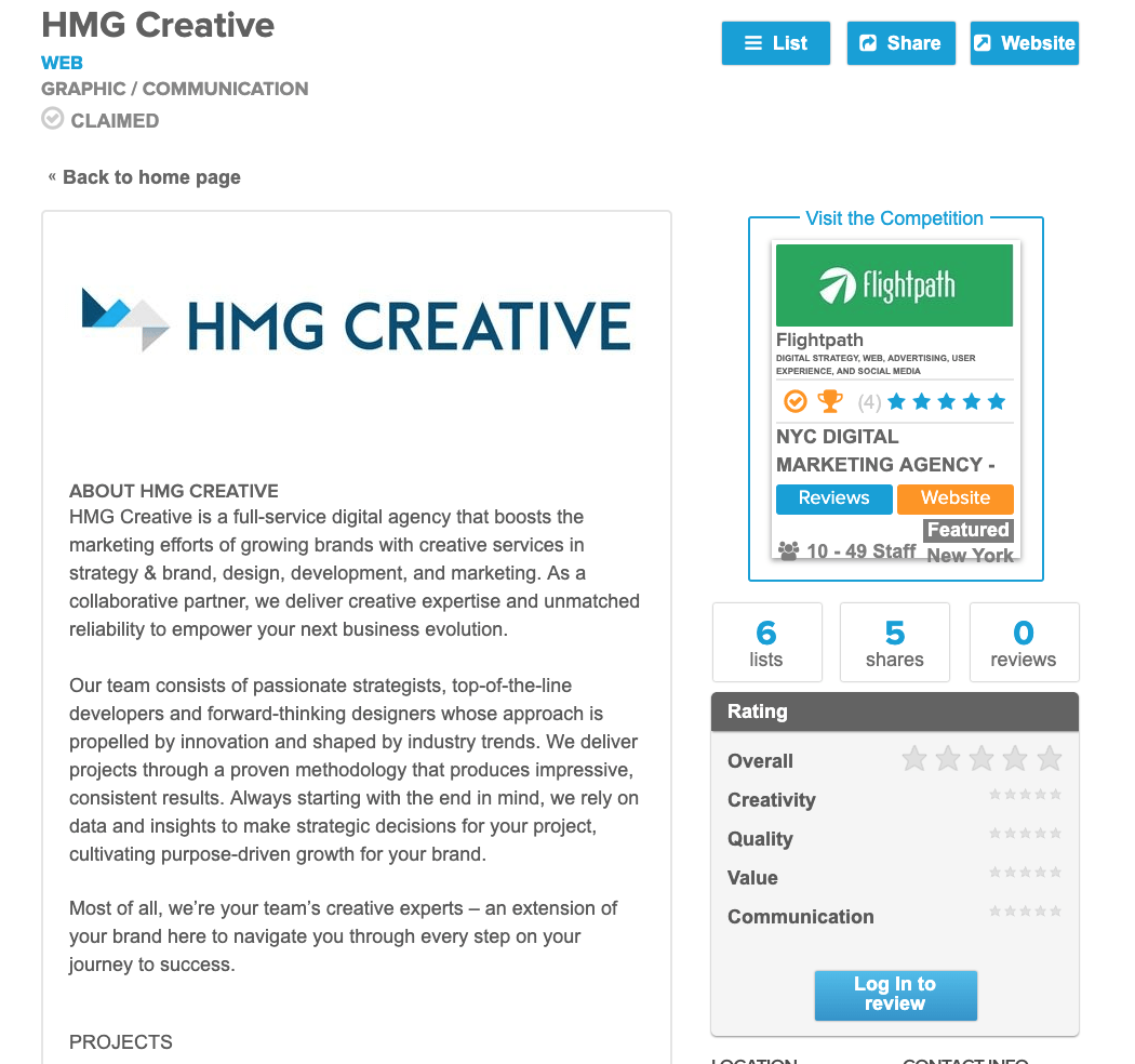 Reviews & Ratings for HMG Creative | Where to Find Us on the Web