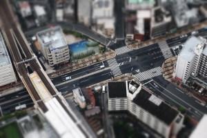 junction, crossing, urban