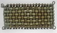 oblong woven tray