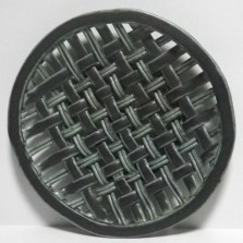 black and green woven platter