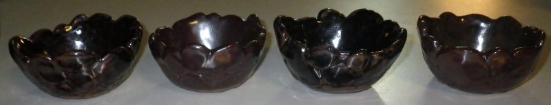 small bowls with rock pattern